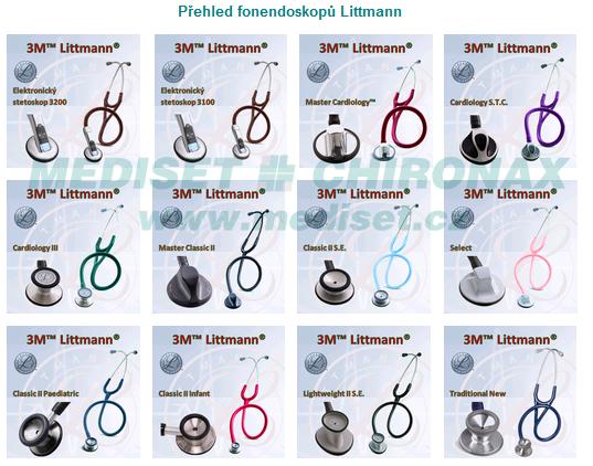 Velký přehled fonendoskopů Littmann